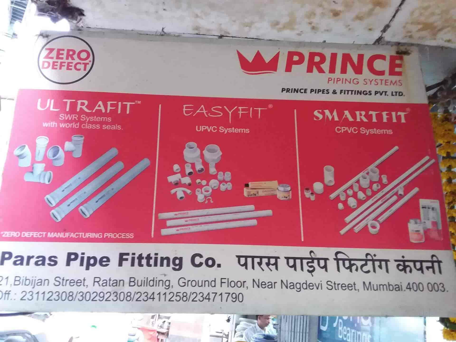 Paras Pipe Fittings Company, Masjid Bunder - Pipe Fitting Dealers in
