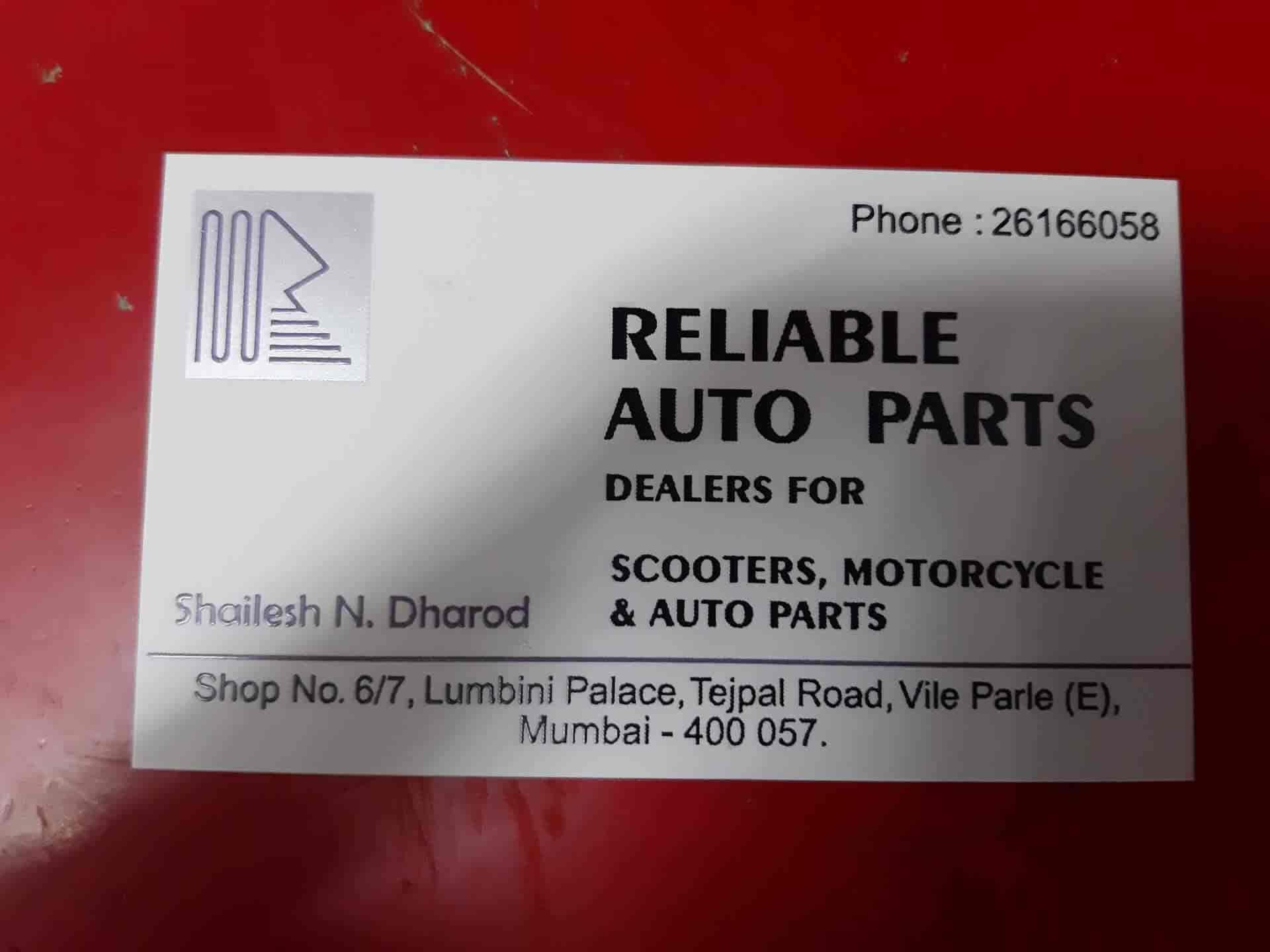 Reliable Auto Parts >> Reliable Auto Parts Vile Parle East Automobile Part Dealers In