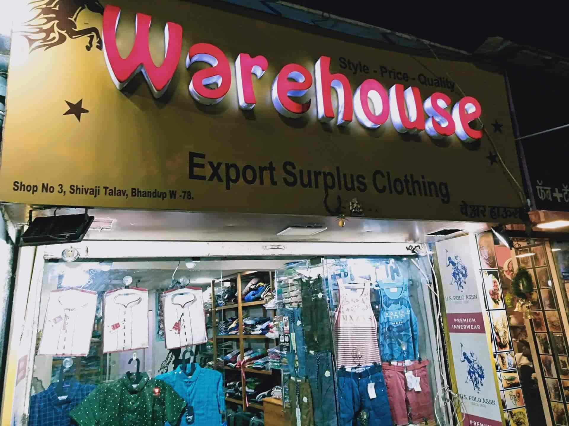 Warehouse Export Surplus, Bhandup West - T Shirt Wholesalers in