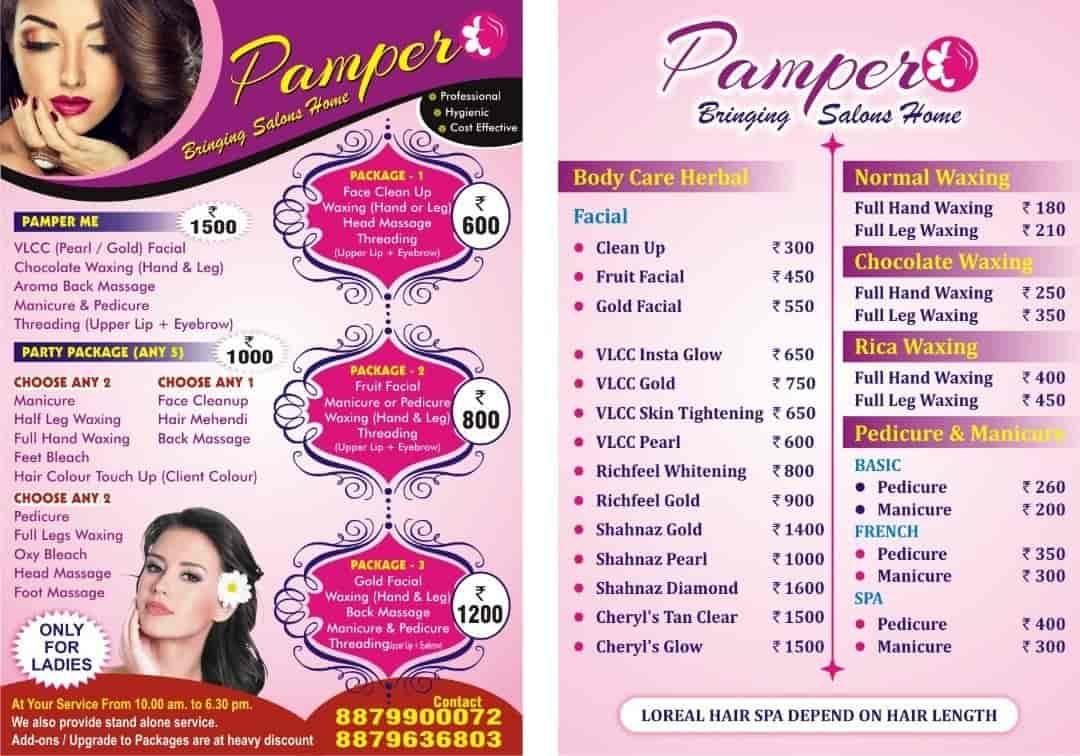 Pamper Bringing Salon Home, Malad East - Salons in Mumbai