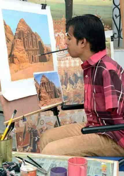 Indian Mouth And Foot Painting Artists Photos Andheri East Mumbai Pictures Images Gallery Justdial
