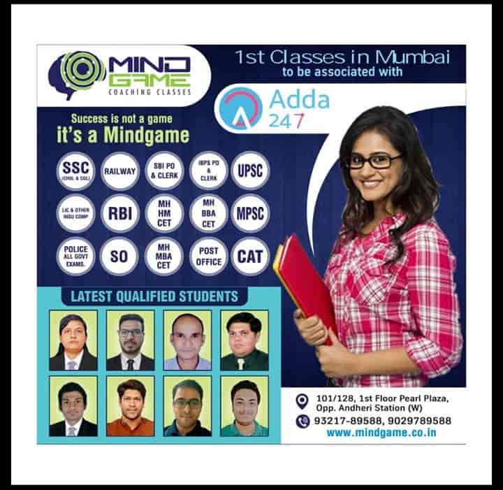 Mindgame Coaching Classes, Andheri West - Banking Institutes in