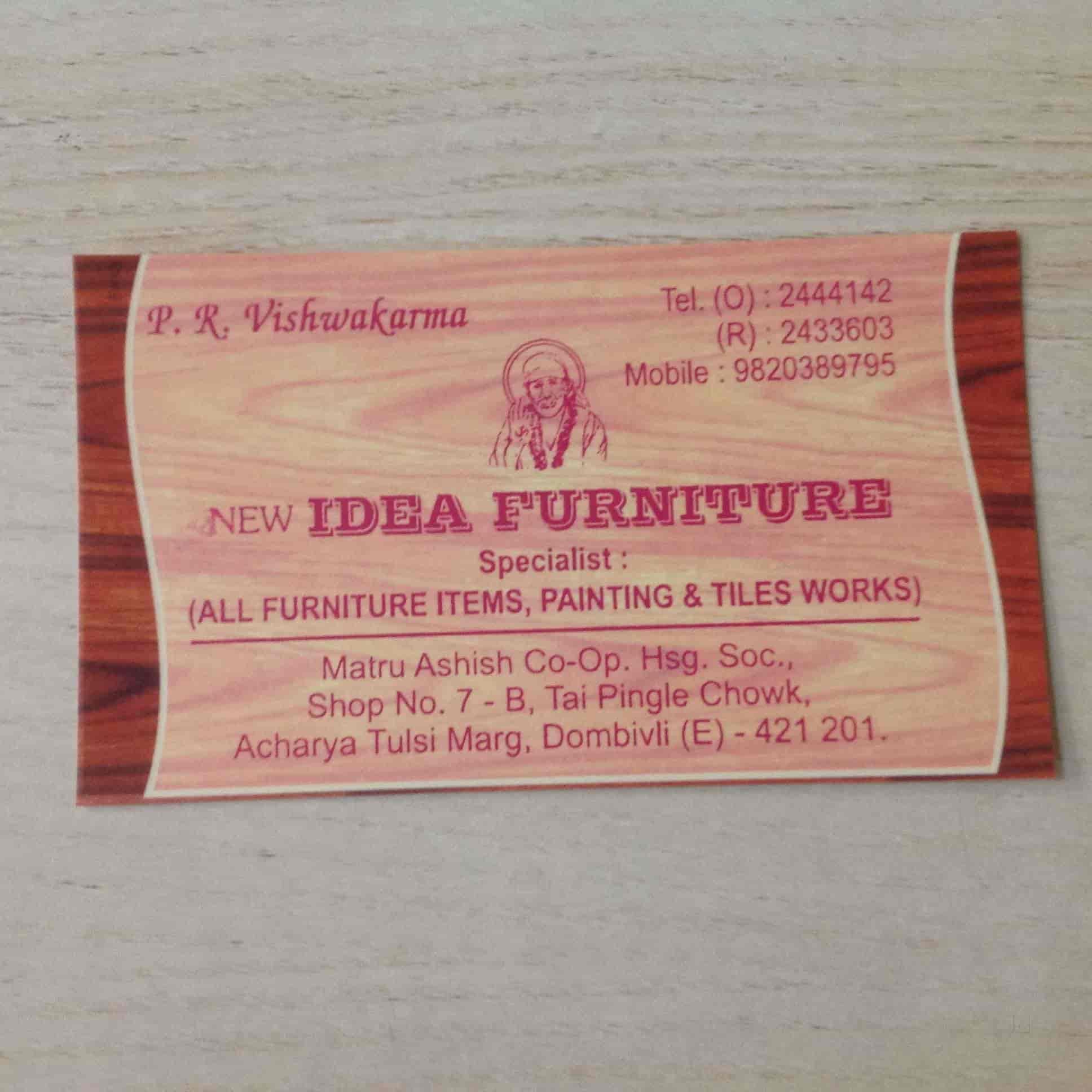 New Idea Furniture, Dombivli East   Furniture Manufacturers In Mumbai    Justdial