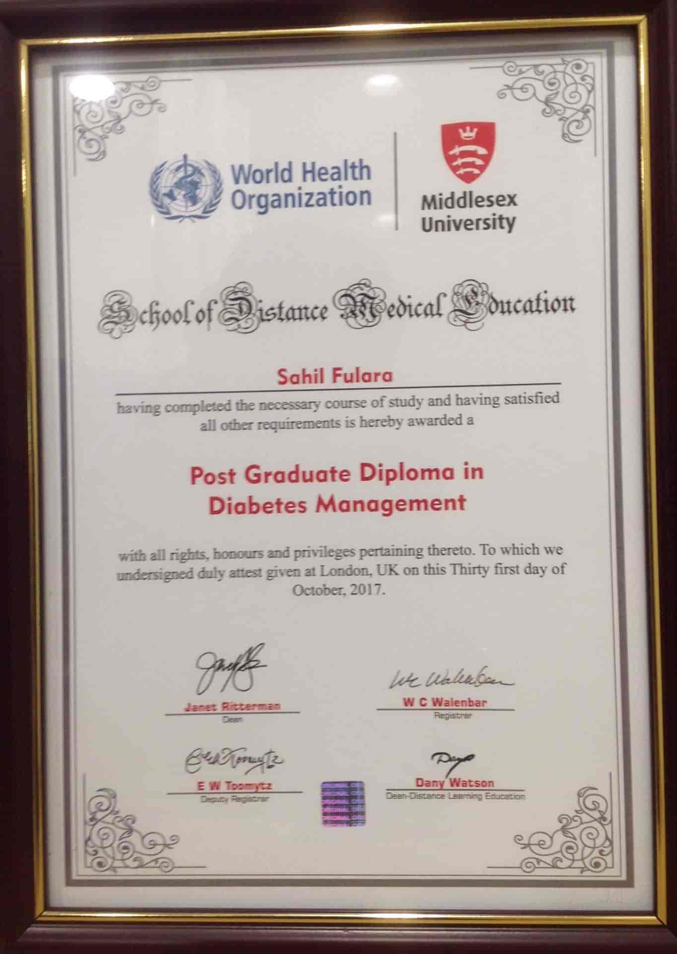 Dr Sahil N Fulara - Diabetologist Doctors - Book Appointment