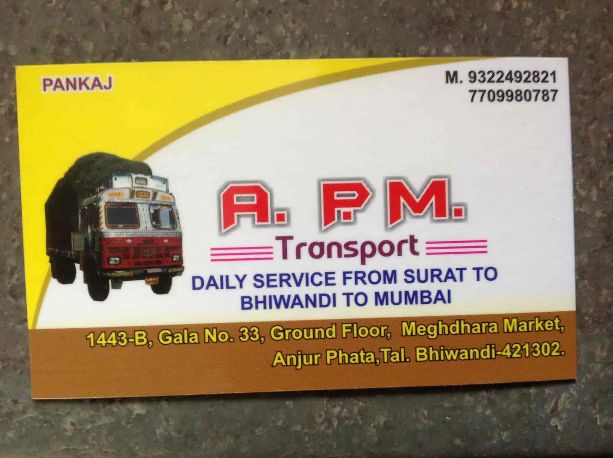 APM Transport, Bhiwandi - Transporters in Mumbai - Justdial