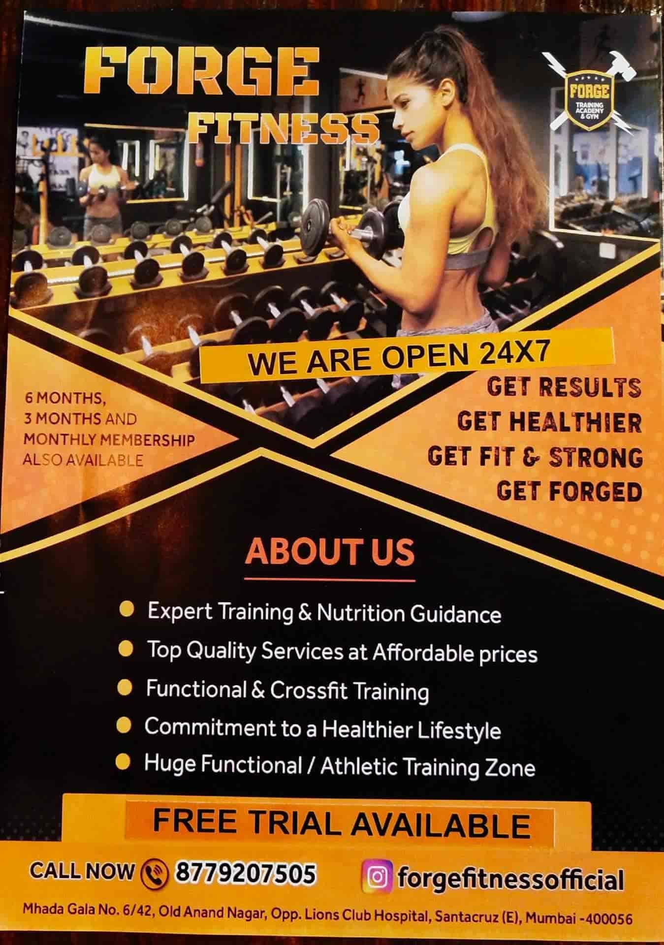 Forge Fitness, Santacruz East - Gyms in Mumbai - Justdial