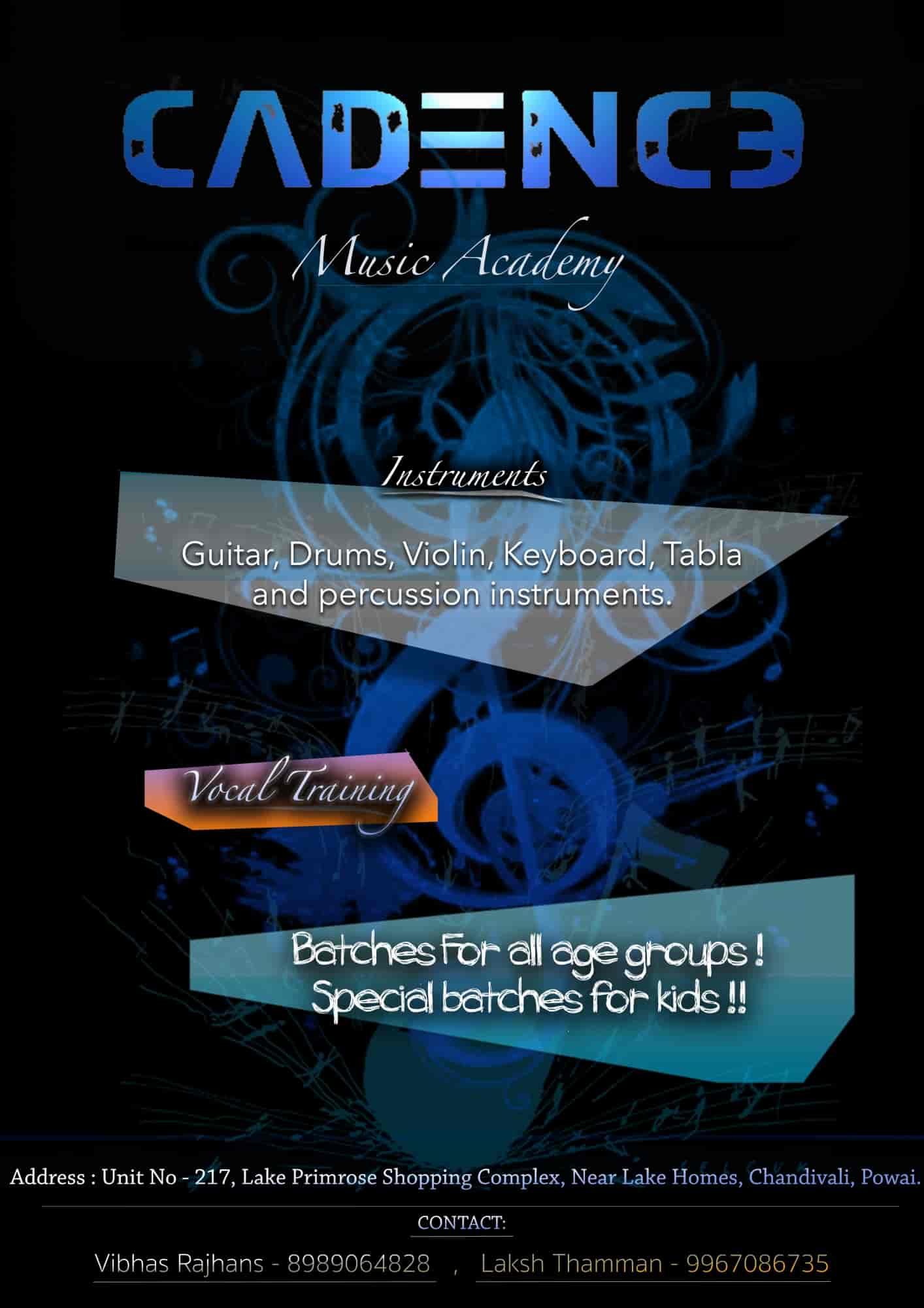 Cadence Music Academy, Powai - Dance Classes in mumbai