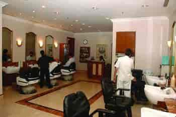 Beauty Salon Cosmetics Spa Beautiful Elegant Vine Woman Silhouette With Ornamental Long Hair