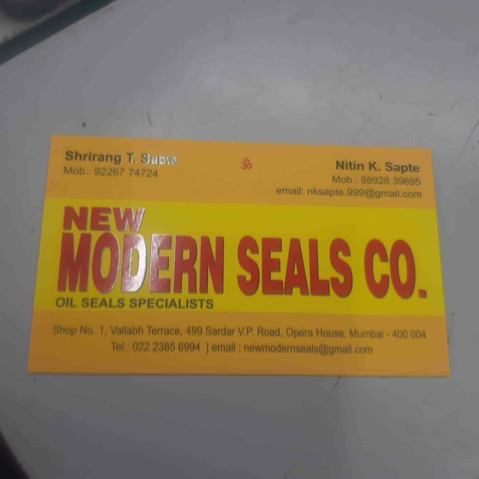 New Modern Seals Co , Opera House - Oil Seal Manufacturers