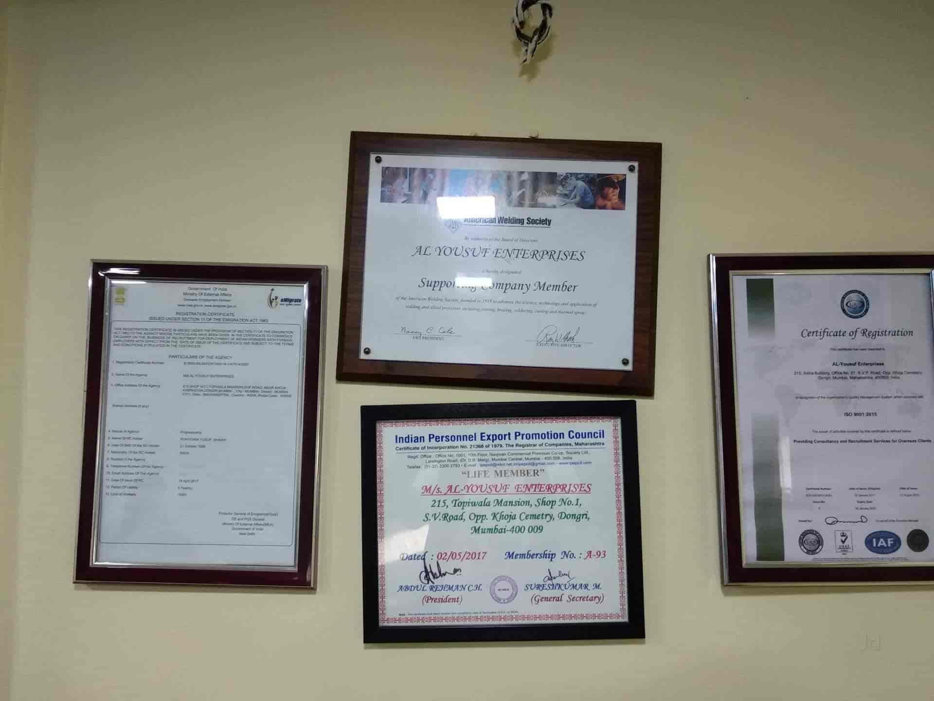 Al Yousuf Enterprises, Dongri - Overseas Placement Services (For