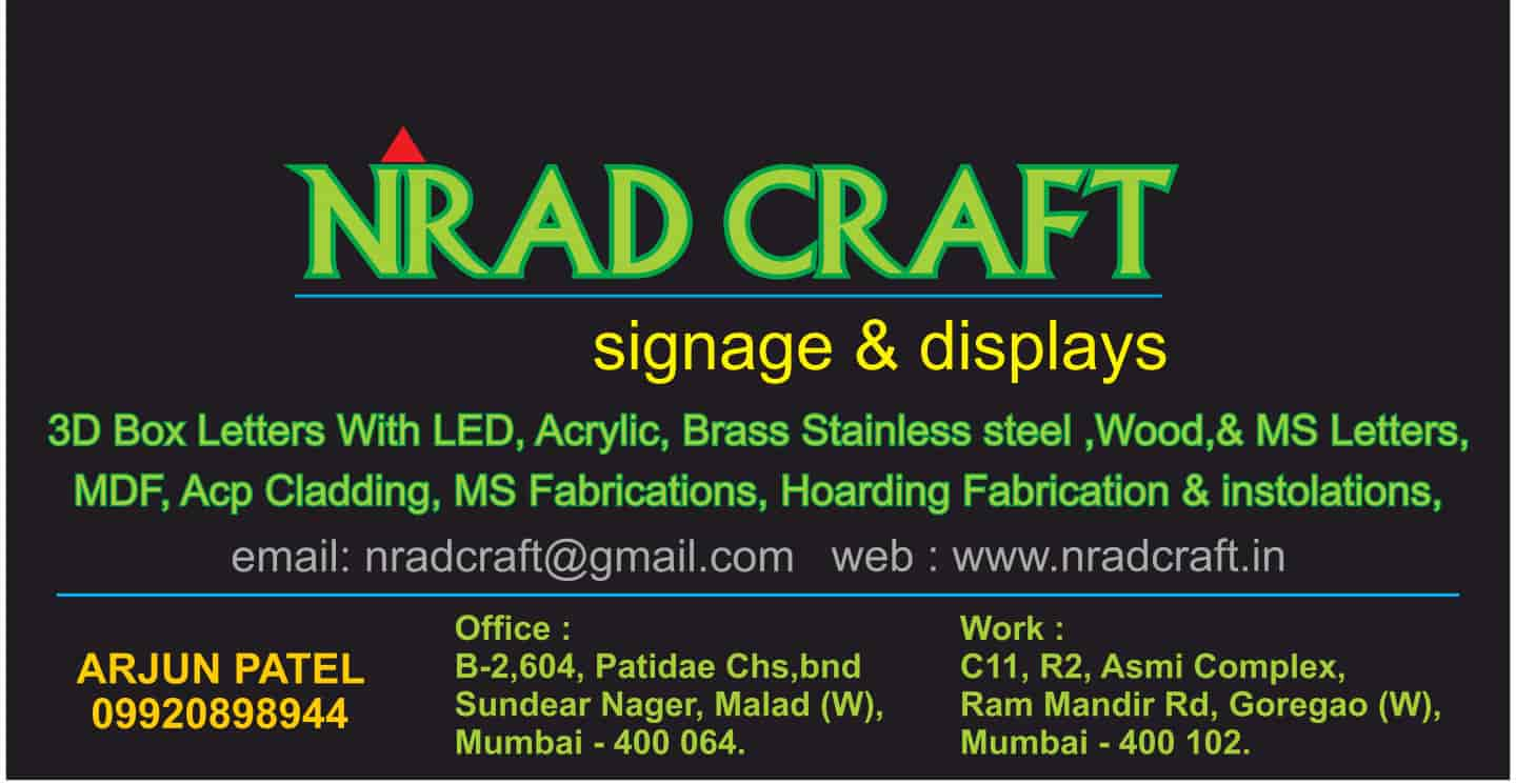 N R Ad Craft, Goregaon West - Sign Board Manufacturers in