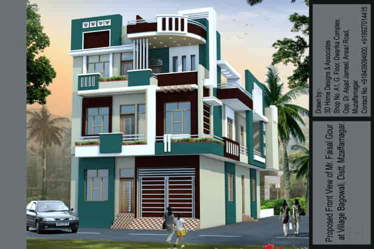 3d Home Designs Associates Muzaffar Nagar City Exterior