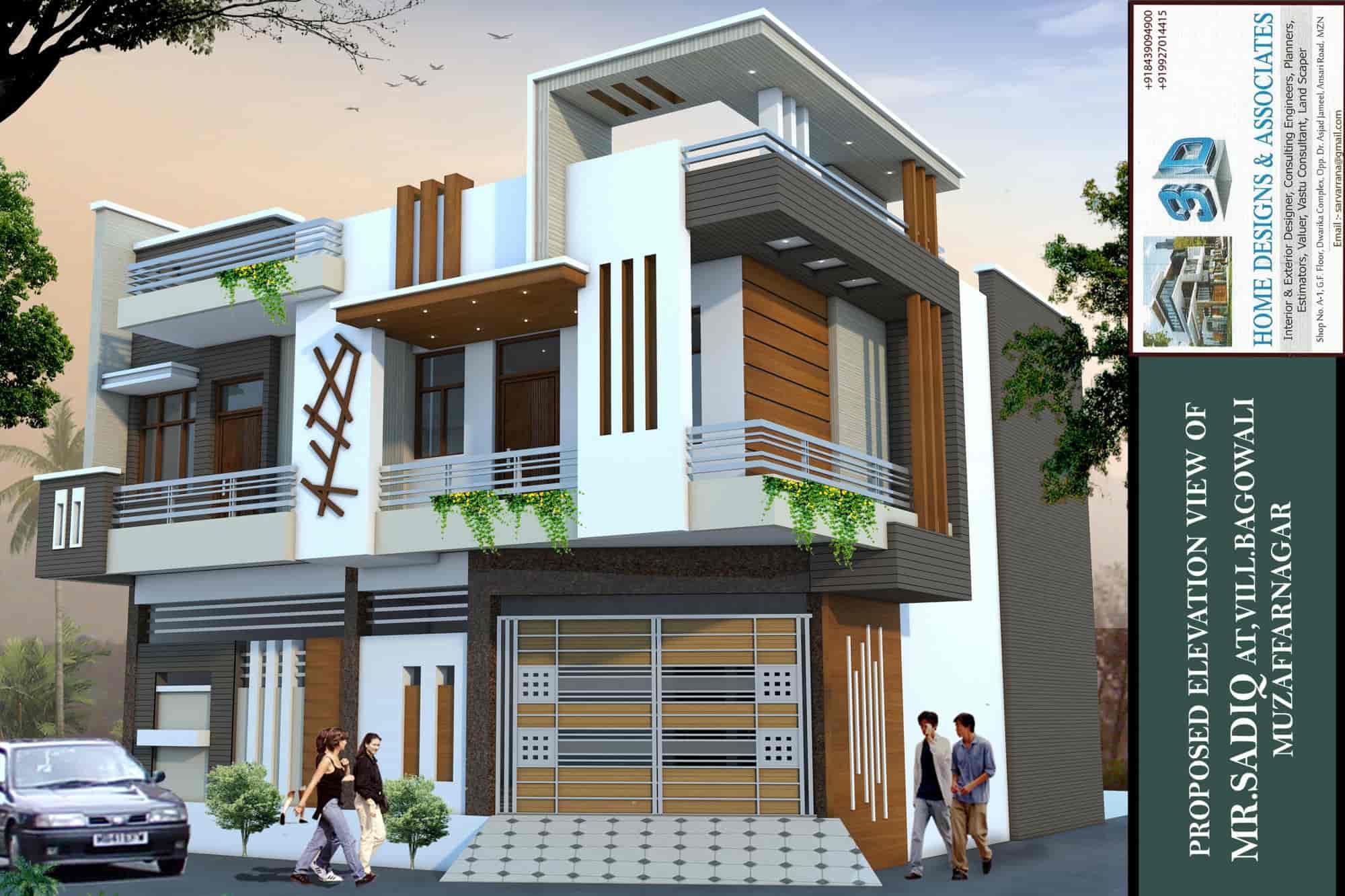 3d Home Designs Associates Muzaffar Nagar City Exterior - Exterior-designer
