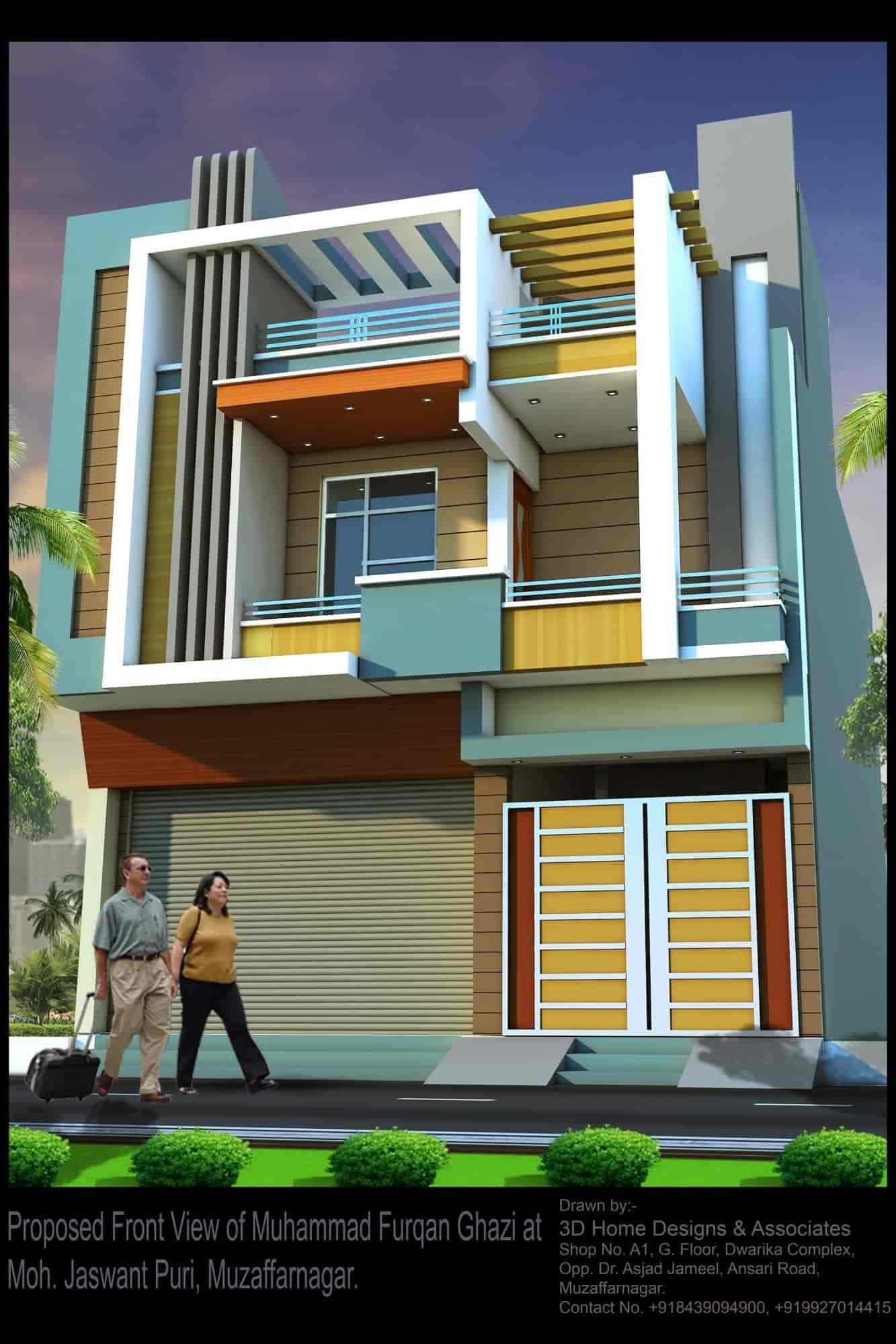 3d Home Designs & ociates, Muzaffar Nagar City - Exterior ... A View Designs For Home on home design layout, home design store, home design project, home design online, home design from above, home design show, home design help, home interior design, home design front yard, home design philippines,