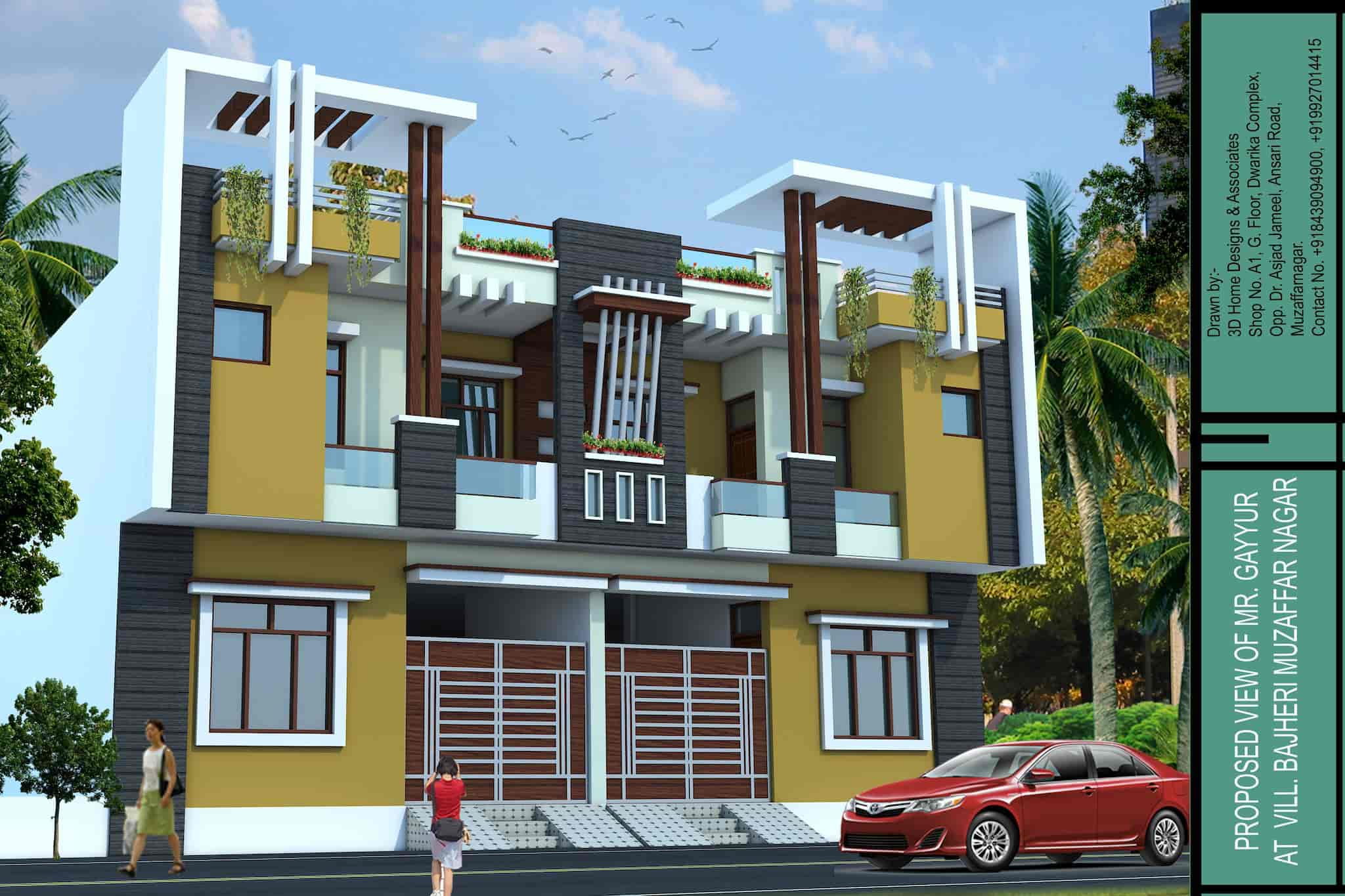 3d home designs associates muzaffar nagar city exterior designers in muzaffarnagar justdial