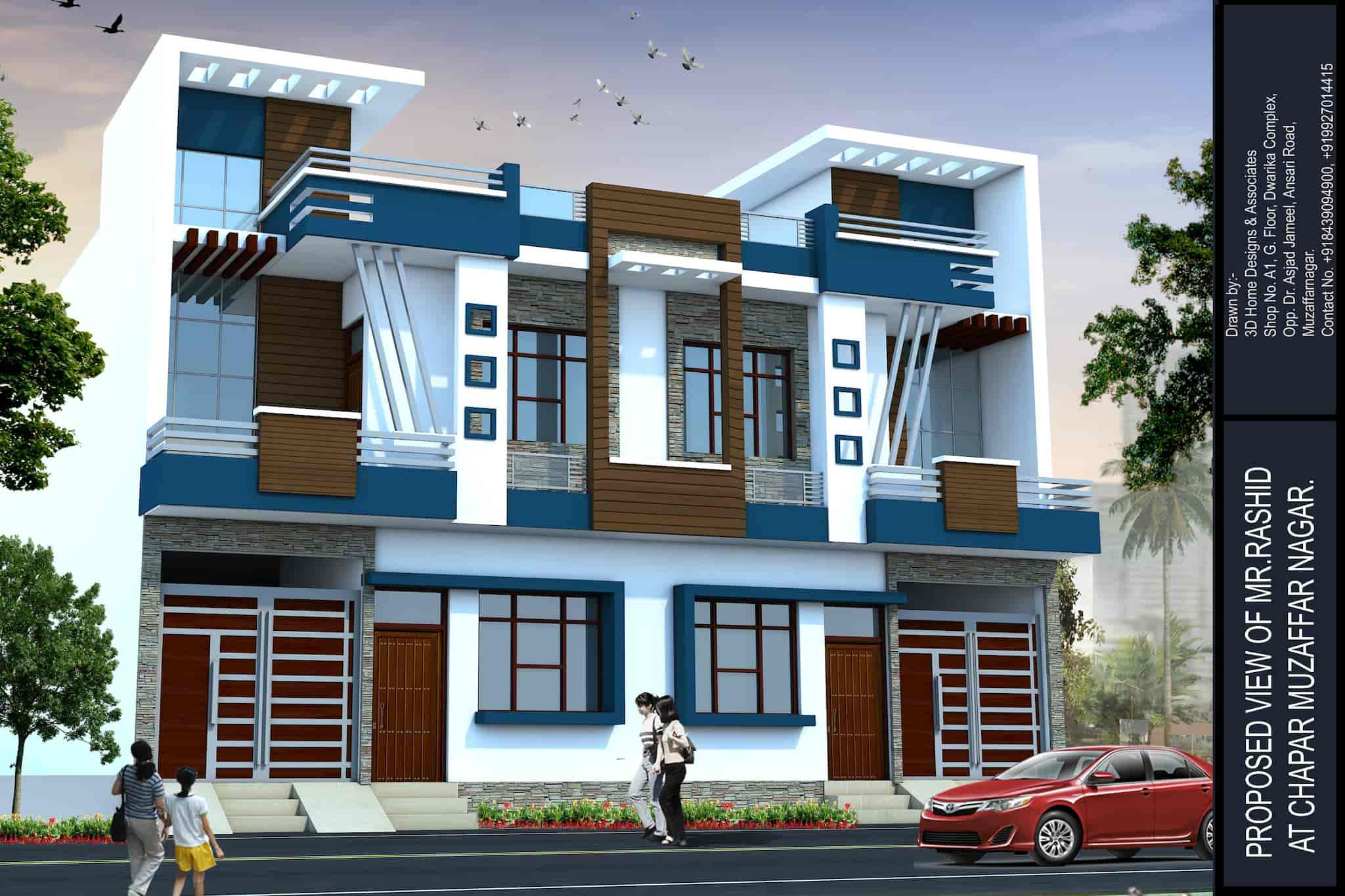 Exterior Designing Home Designs Ociates Photos Muzaffar Nagar City
