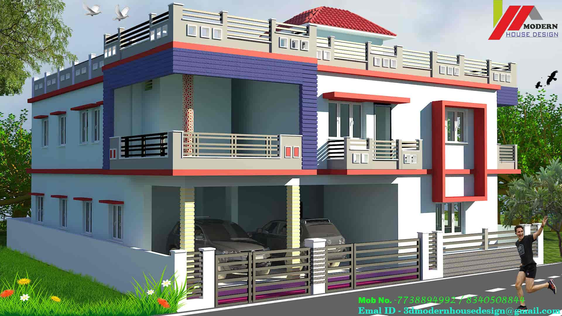 Modern House Design Durga Sthan Manddir Architects In