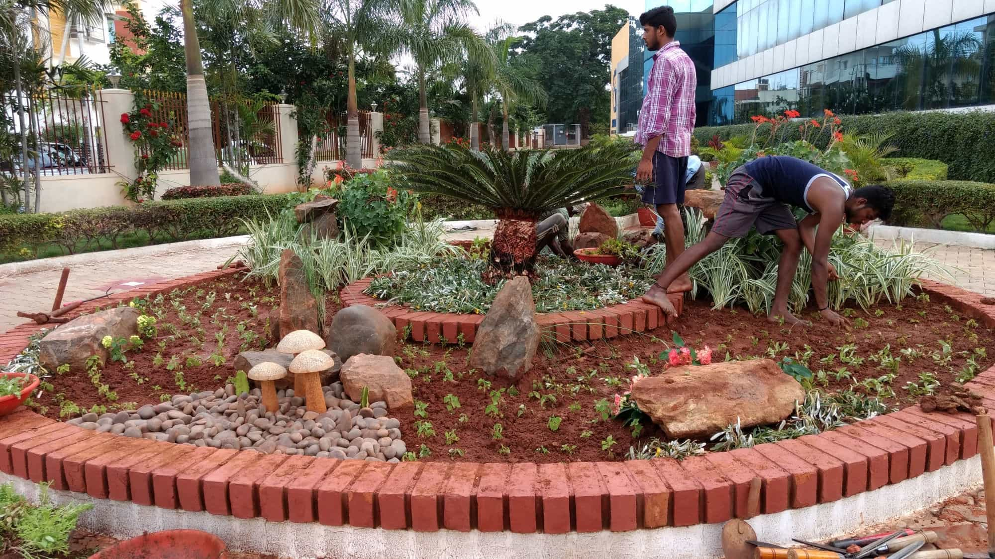 ... Mahadeshwara Garden Works Photos, Hebbal, Mysore   Garden Maintenance  Services ...