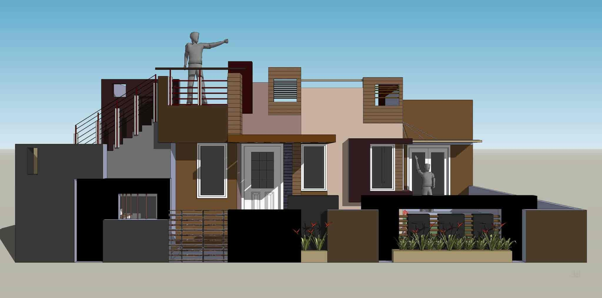 ... 3D House Exterior   A And D Photos, New Banimantap Extension, Mysore    Architects ...