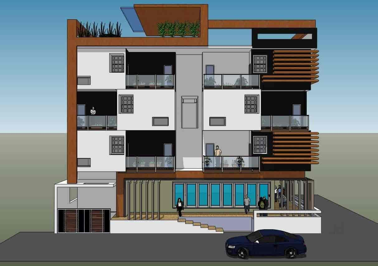... House Exterior   A And D Photos, New Banimantap Extension, Mysore    Architects ...