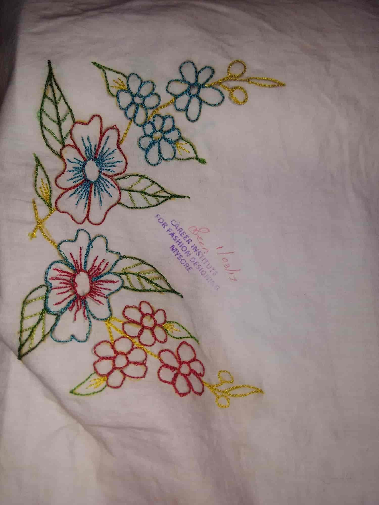 5e47b3f5e4a ... Embroidery Design Work - Career Institute For Fashion Designing Photos