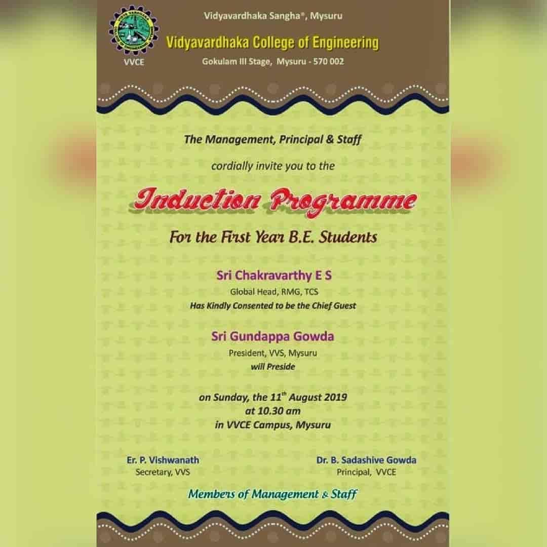 Vidyavardhaka College Of Engineering, Gokulam - Engineering