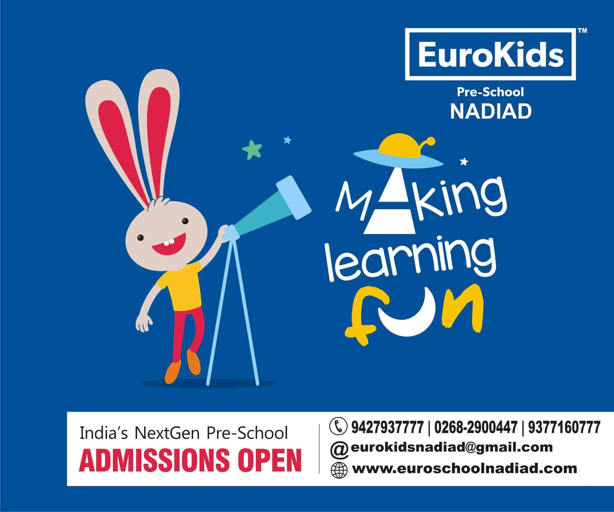 Euro School, Near Patel Wadi Piplag, Piplag-Nadiad Crossing