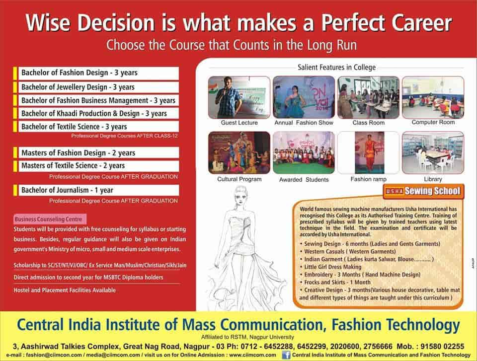 Central India Institute Of Fashion Technology Baidyanath Chowk Institutes In Nagpur Justdial