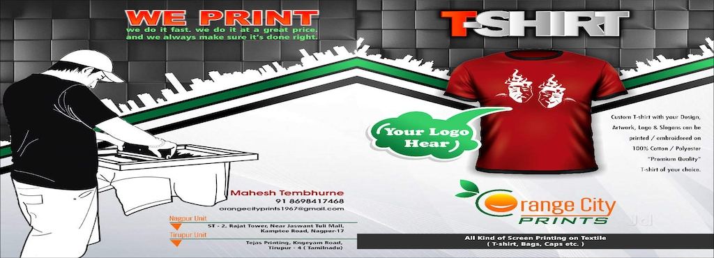 4a1c4a10e86 Orange City Prints, Kamal Chowk - T Shirt Printers in Nagpur - Justdial