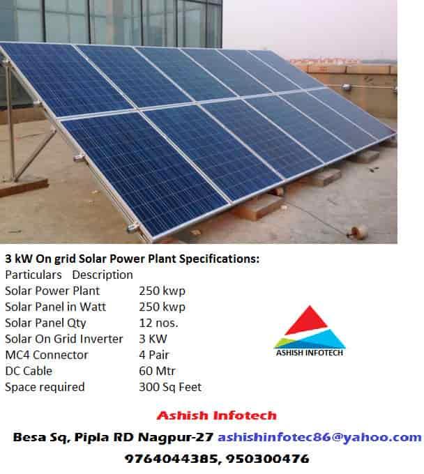 Ashish Infotech, Besa - Solar Panel Dealers in Nagpur - Justdial