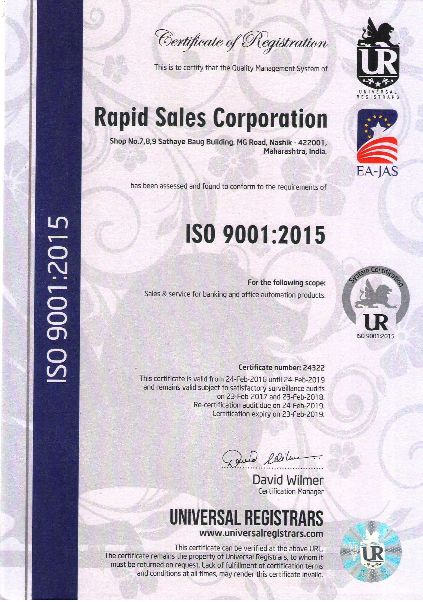 Rapid Sales Corporation, M G Road - Currency Counting