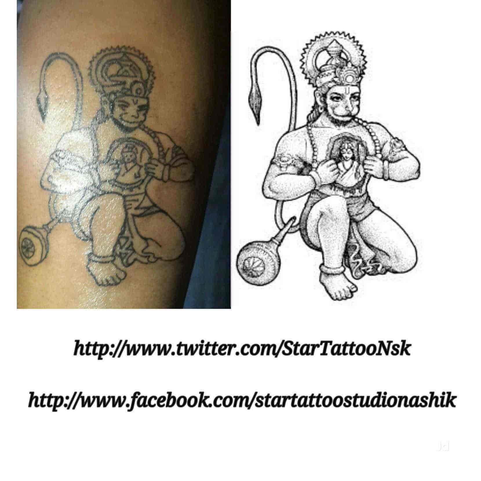 9260239e7bae2 ... Tattoo Design - Star Tattoos Studio Photos, Panchavati, Nashik -  Permanent Tattoo Artists ...