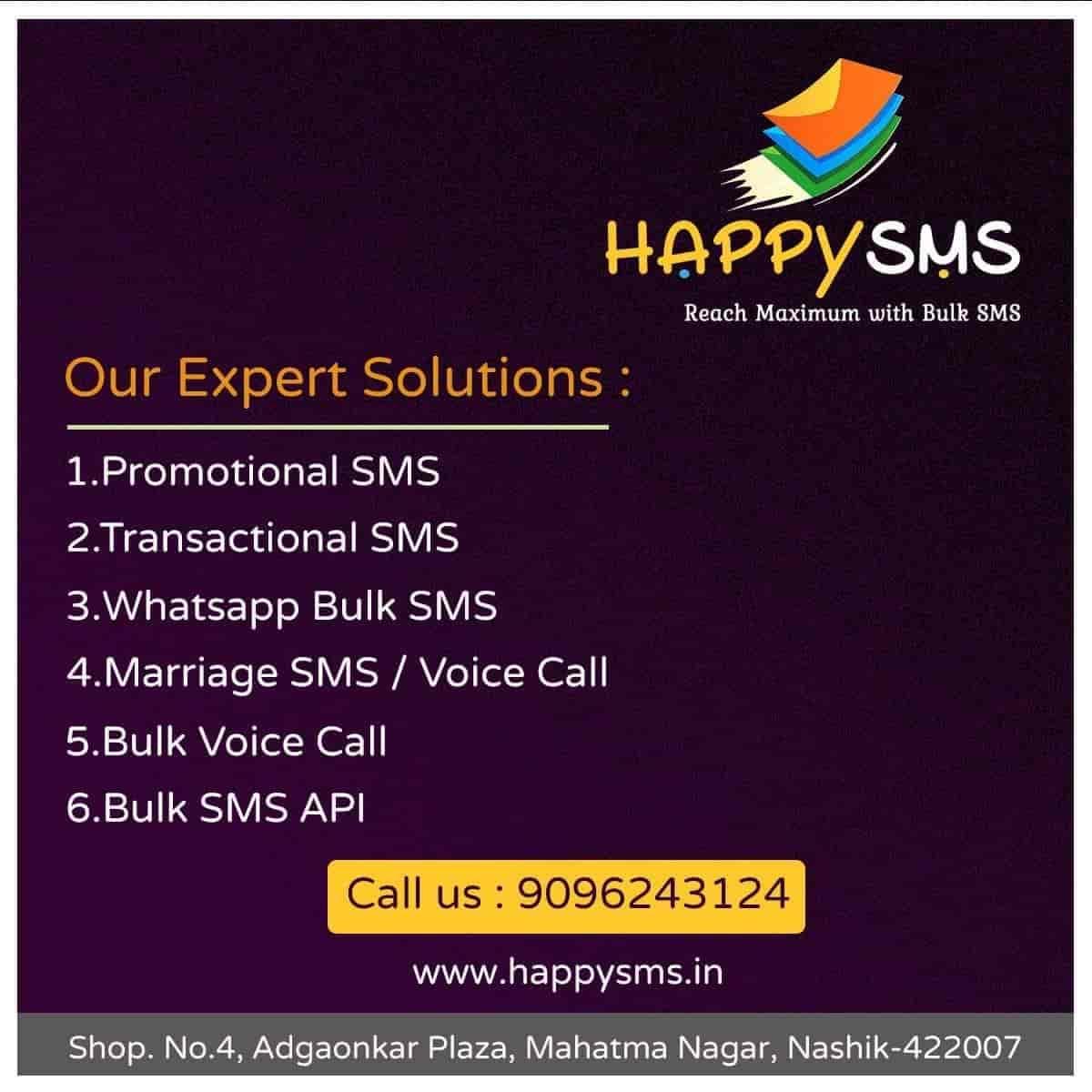 5f7c4856eba Happy Sms, Mahatma Nagar - Bulk SMS Services in Nashik - Justdial