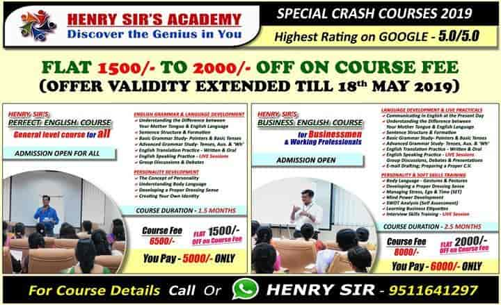 Henry Sir English Speaking Academy, College Road - Institutes For