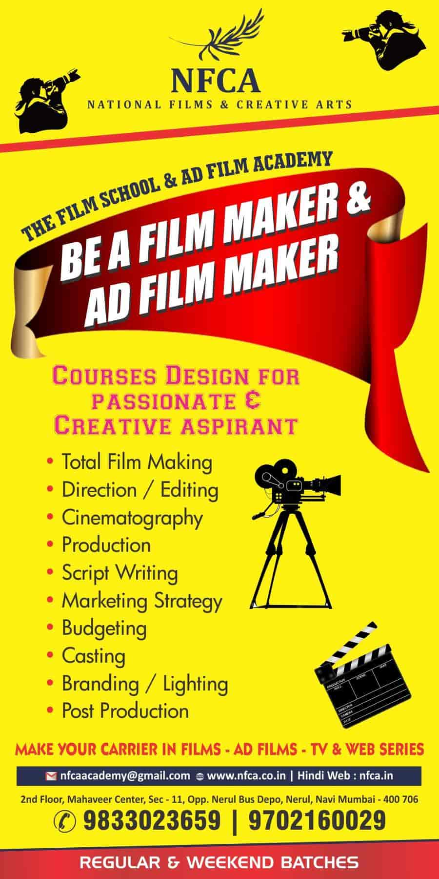 Nfca Academy Of Film Making Courses Diploma In Film Editing In