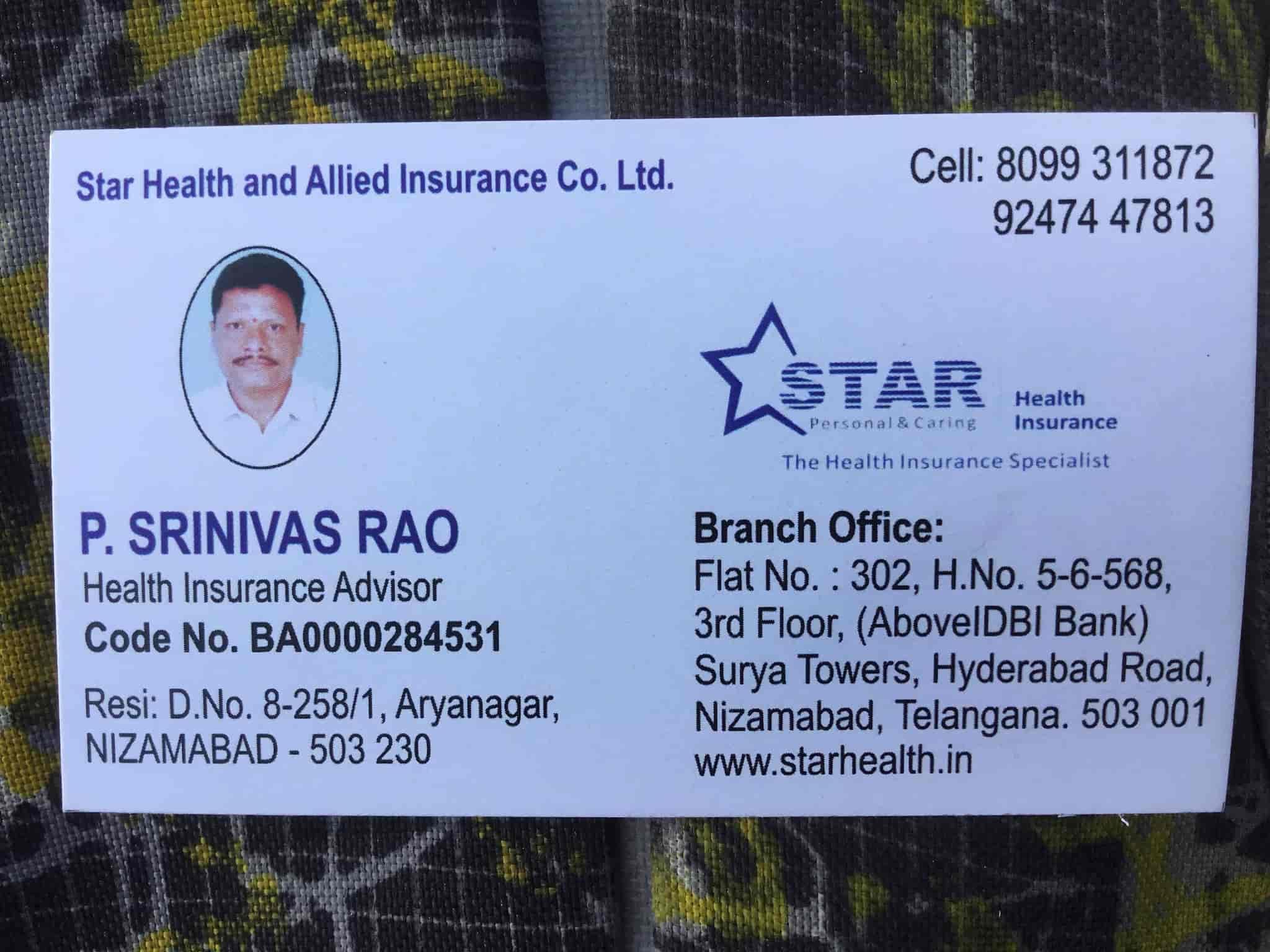Star Health Allied Insurance Company Ltd Shivaji Nagar Insurance Companies In Nizamabad Nizamabad Justdial