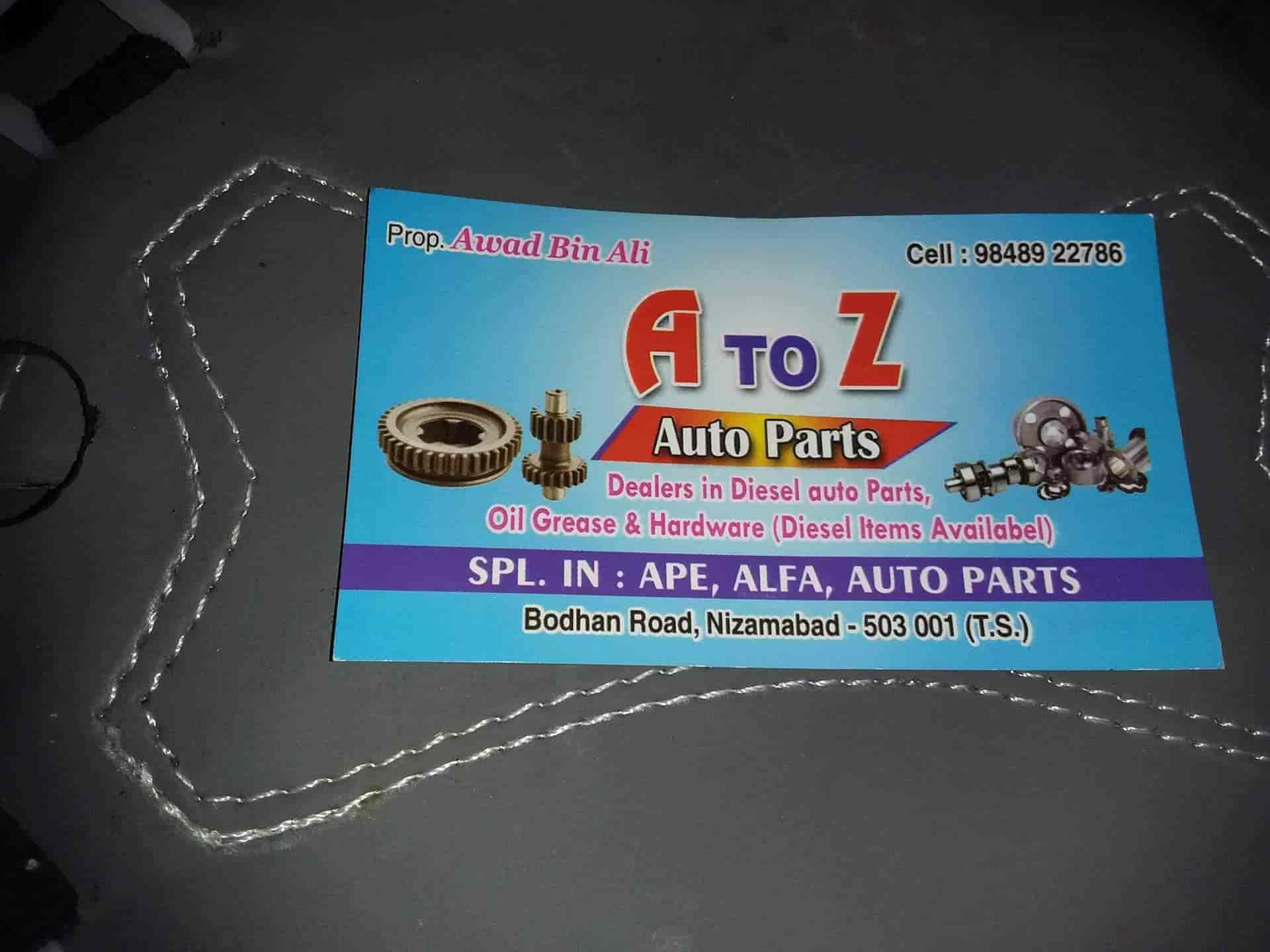 A To Z Auto Parts >> A To Z Auto Parts Malapally Auto Rickshaw Part Dealers In