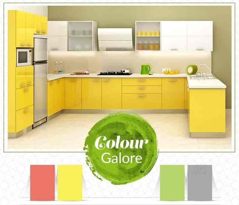 Lemon Green Modular Kitchen
