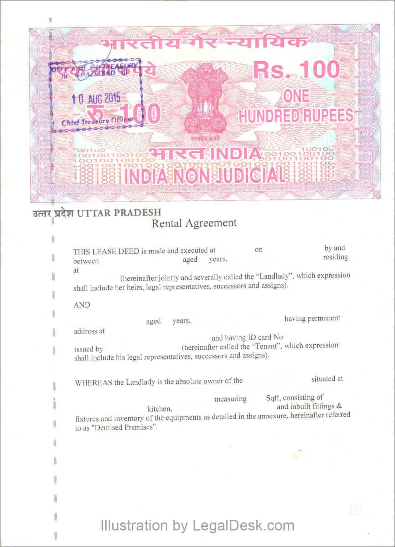 Rent Agreement Service In Noida Atta Market Documentation