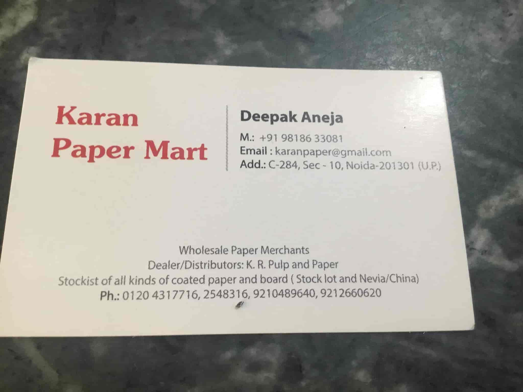 Karan Paper Mart Photos, Sector 10, Delhi- Pictures & Images