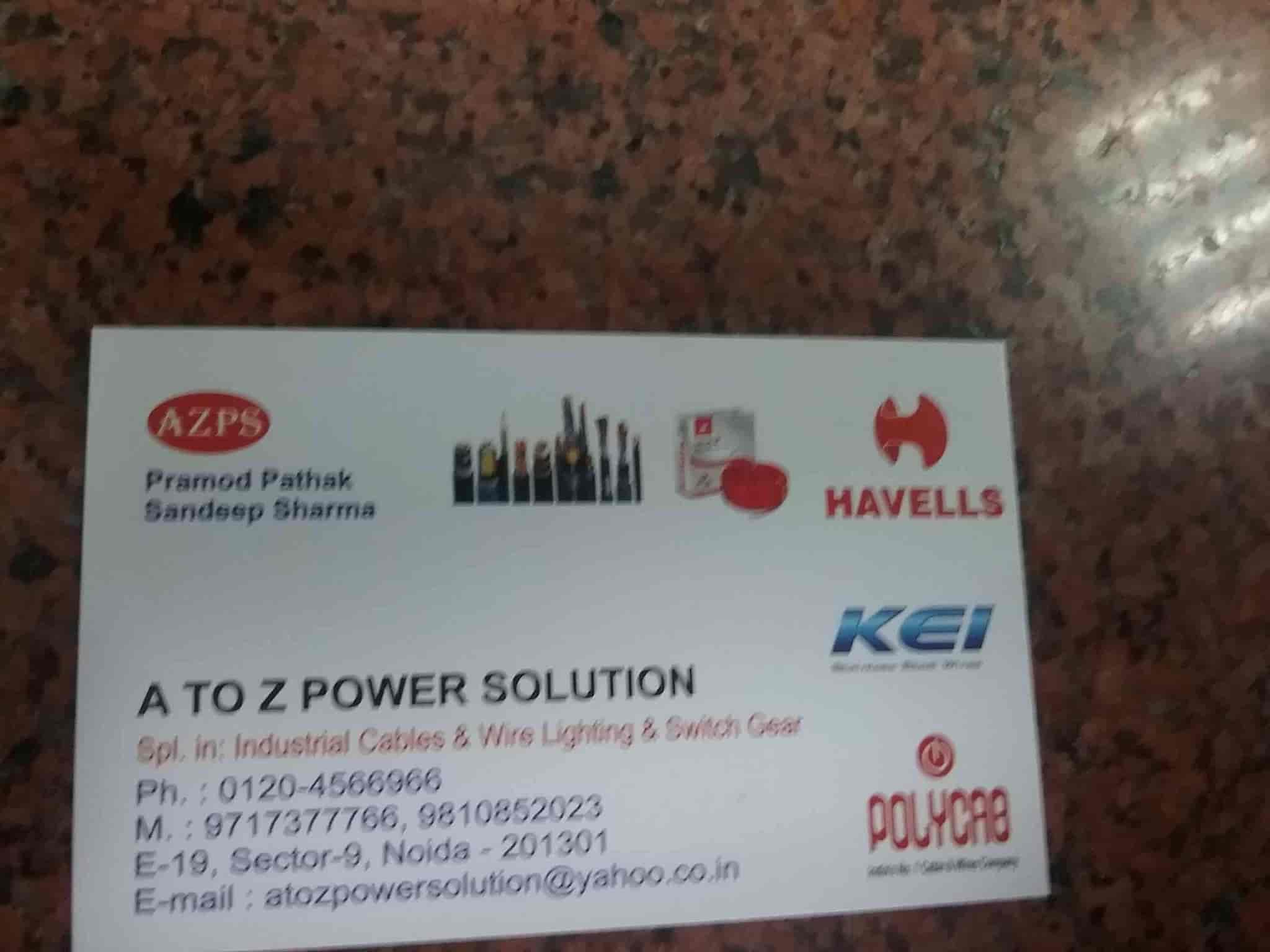 A To Z Power Solution, Sector 9 - Electrical Goods Dealers in Delhi ...