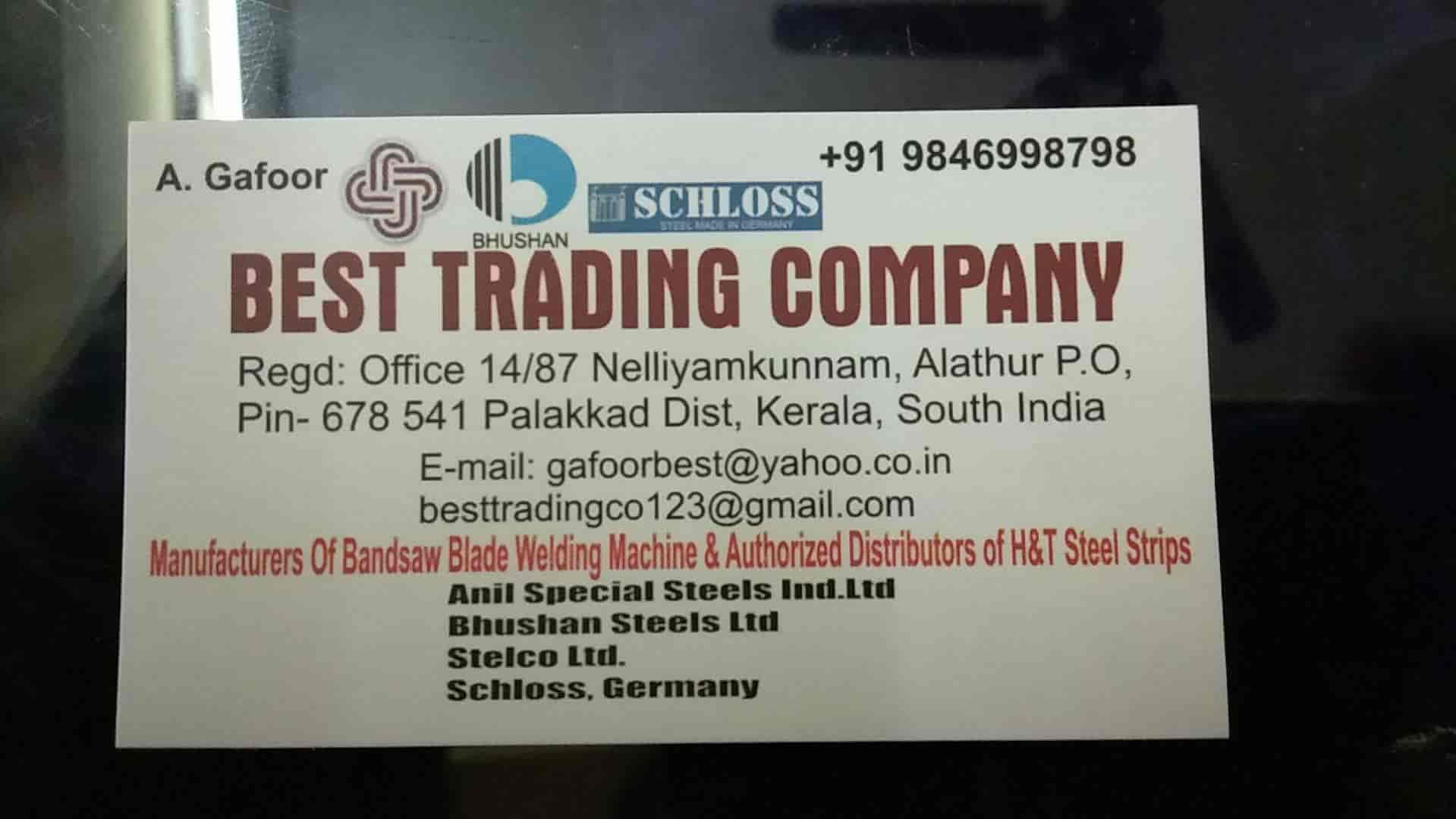 Best Trading Company Alathur Palakkad Bandsaw Blade Dealers In Palakkad Justdial
