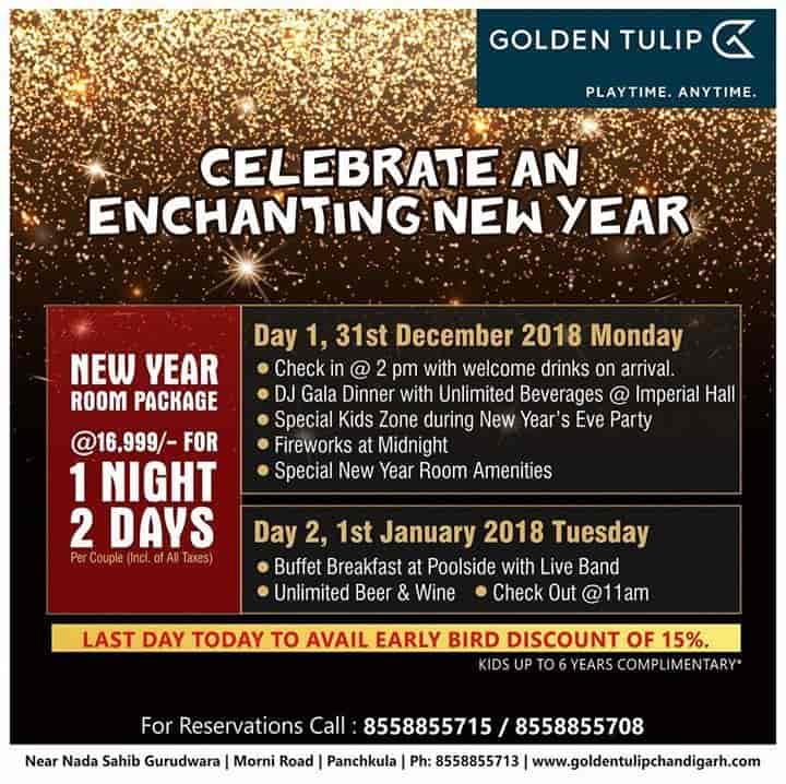 Golden Tulip Resort & Spa, Panchkula Sector 8 - 4 Star