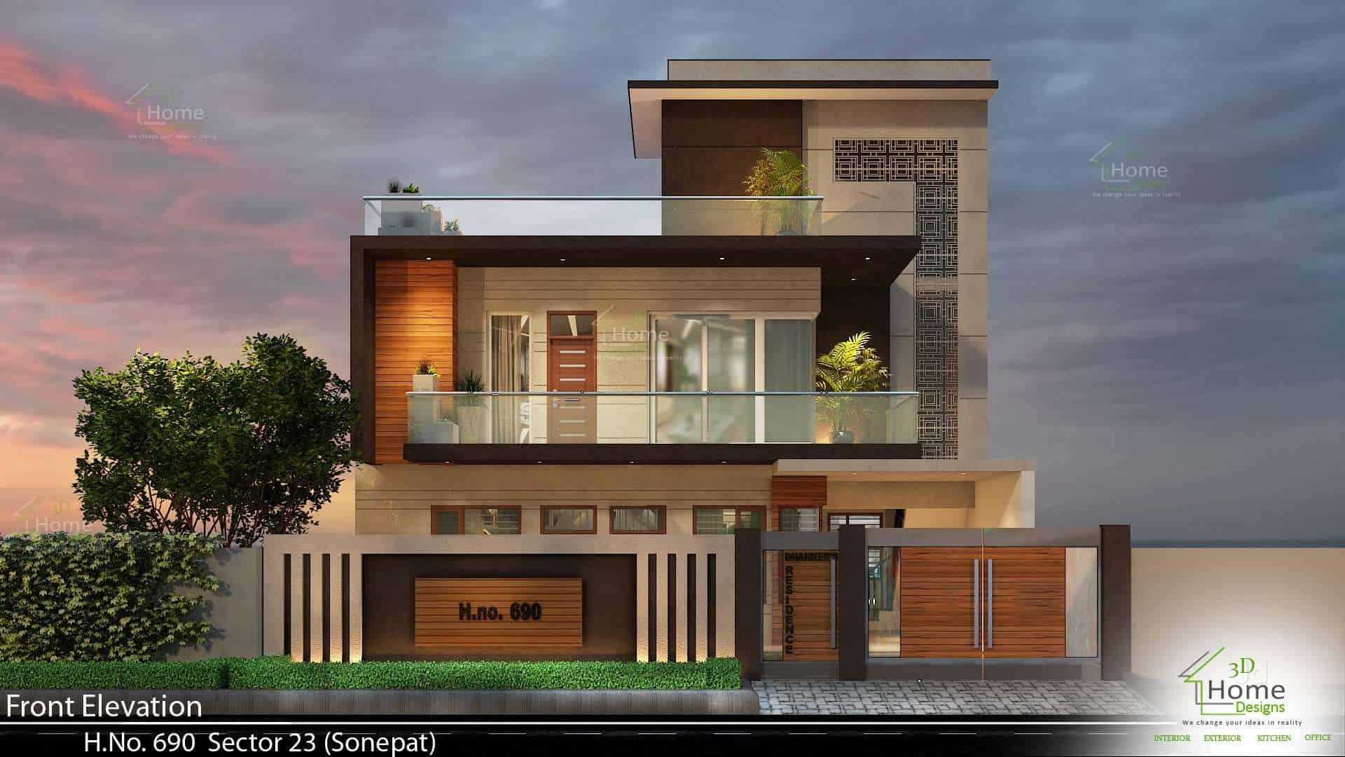 3d Home Design Front Elevation Hd Home Design