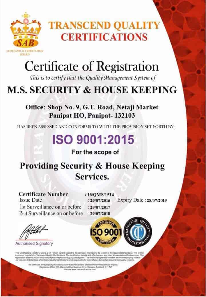 M S Security House Keeping Service Photos, Model Town, Panipat ...