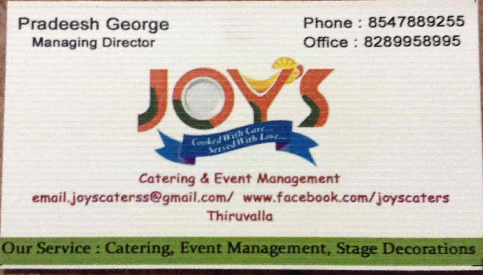 Joys Catering Event Management Thiruvalla
