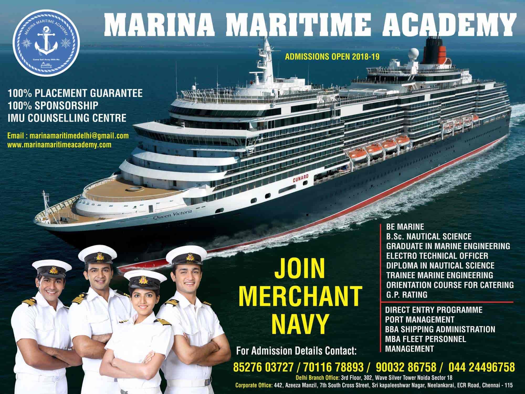 Marina Maritime Academy - Join Merchant Navy, Kankarbagh