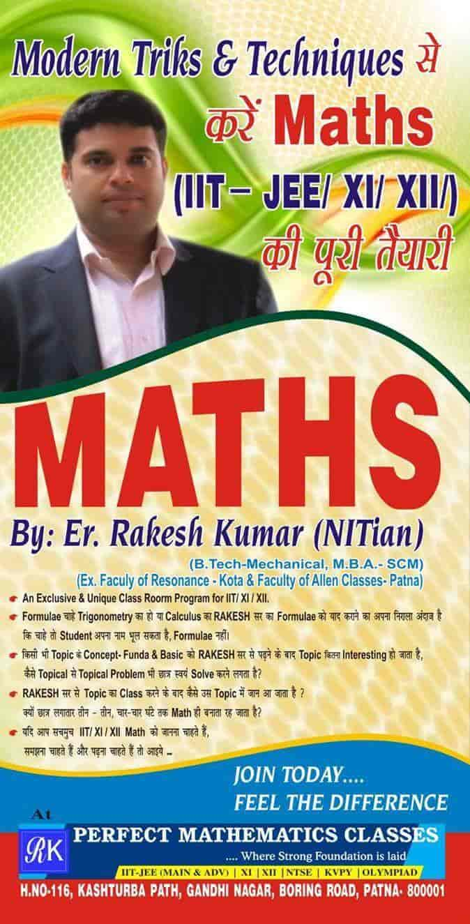 Perfect Mathematics Classes, Boring Road - IIT Tutorials in Patna ...