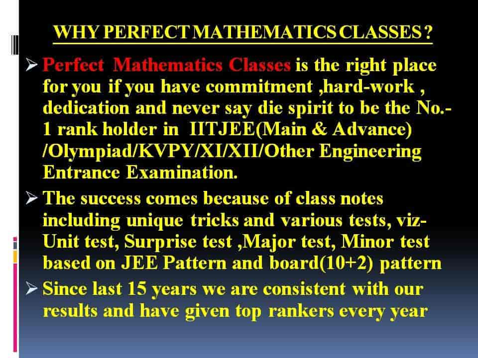 Perfect Mathematics Classes Photos, Boring Road, Patna- Pictures ...