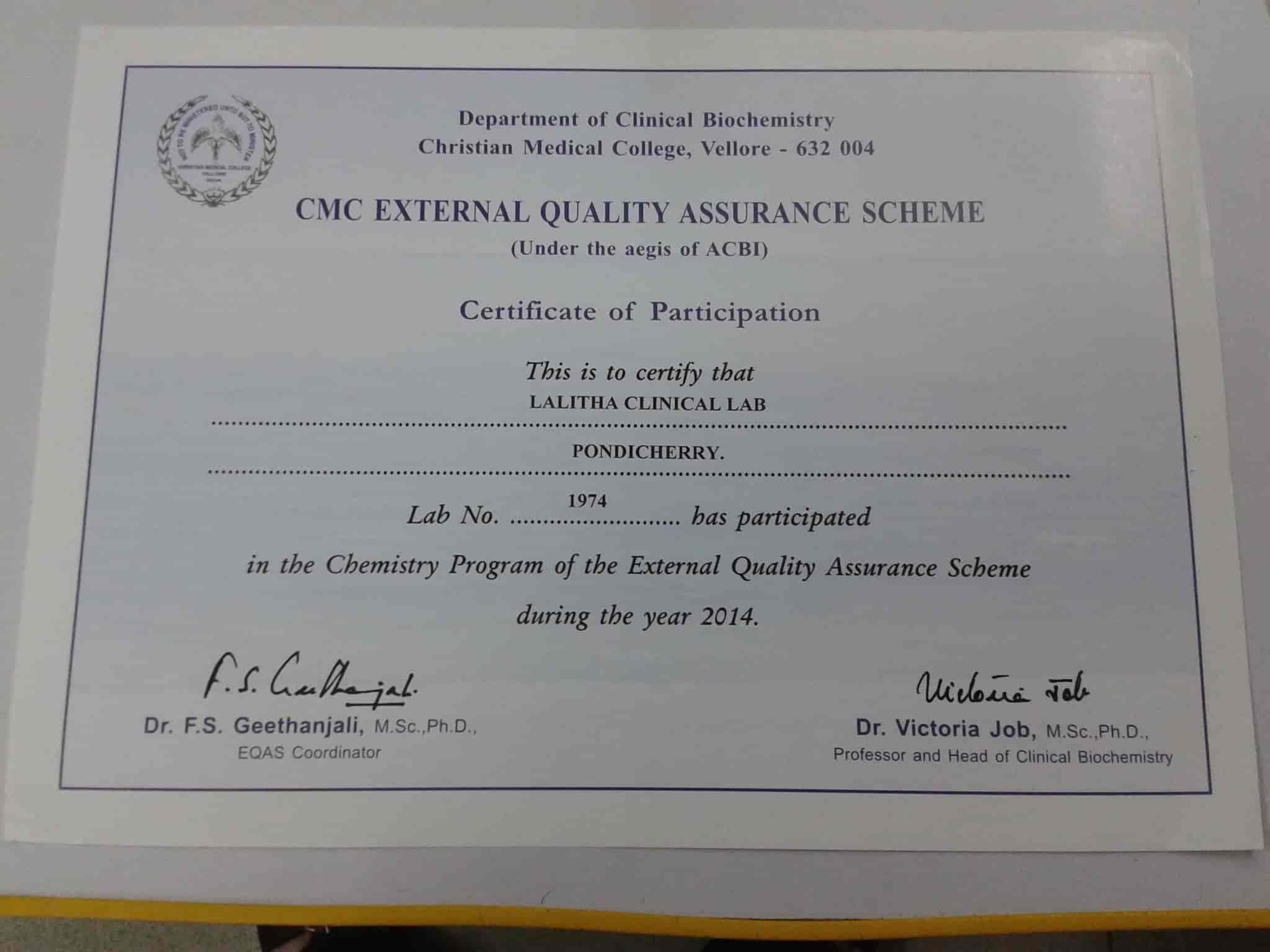 Lalitha Clinical Laboratory Photos Chinnakadai Pondicherry